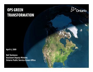 OPS Green Office - Doing Business with Government - Ontario
