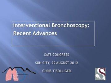 Chris Bolliger New developments in interventional bronchoscopy