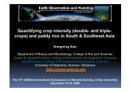 Quantifying crop intensity (double- and triple- crops) and ... - CEReS