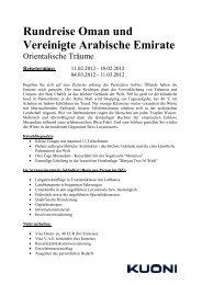 Rundreise Oman und Vereinigte Arabische Emirate