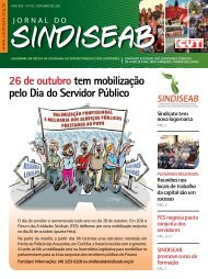 outubro. Em 2011 - SindiSeab