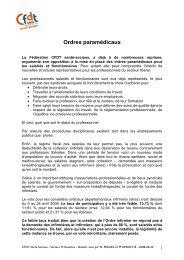 Ordre paramédicaux - CFDT Santé Sociaux