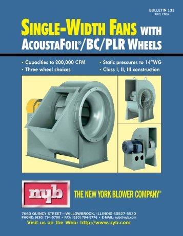 ACOUSTAFOIL®/BC/PLR WHEELS - New York Blower