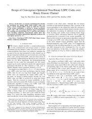 Design of Convergence-Optimized Non-Binary LDPC ... - IEEE Xplore