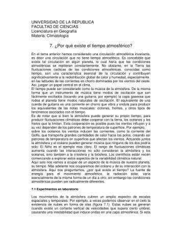 Tema 7 - Unidad de Ciencias de la Atmósfera