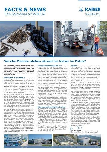 FACTS & NEWS - Kaiser AG
