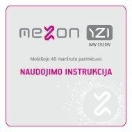 NAUDOJIMO INSTRUKCIJA - MEZON