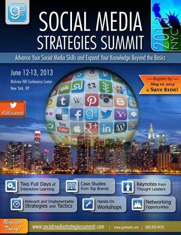 StrateGieS SUMMit 2013 NYC