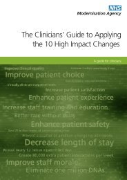 The Clinicians' Guide to Applying the 10 High Impact Changes