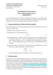 Aufgabenblock 6 - Institut für Wissenschaftliches Rechnen ...