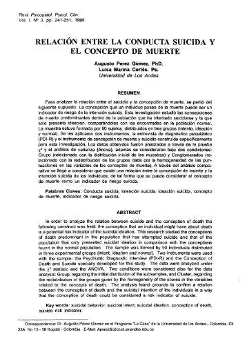 Relación entre la Conducta Suicida y el Concepto ... - e-spacio UNED