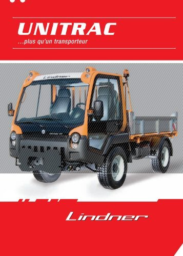 Prospectus Unitrac - Lindner Traktoren