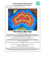 Meredith's Message - Glenroi Heights Public School