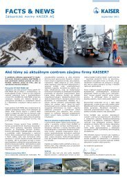 FACTS & NEWS - Kaiser AG
