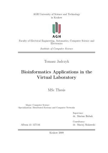 Master thesis distributed computing