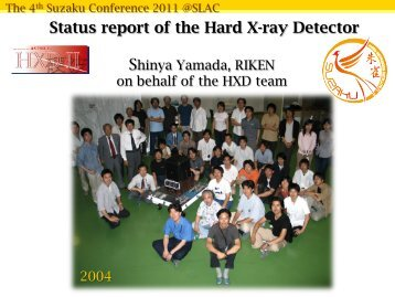 Status report of the Hard X-ray Detector - HEASARC