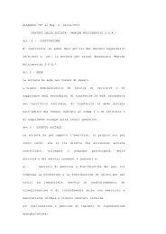 Statuto Sociale - Appalti e contratti - Provincia di Pesaro e Urbino