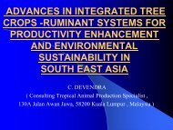 advances in integrated tree crops -ruminant systems for ... - Inra
