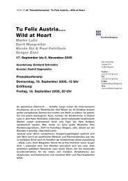 Tu Felix Austria.... Wild at Heart