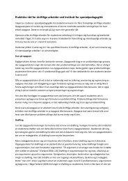 Praktiske råd for skriftlige arbeider ved Institutt for spesialpedagogikk