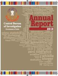 CBI annual report 2010 - Central Bureau of Investigation