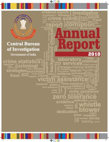 CBI annual report 2010 - Central Bureau of Investigation