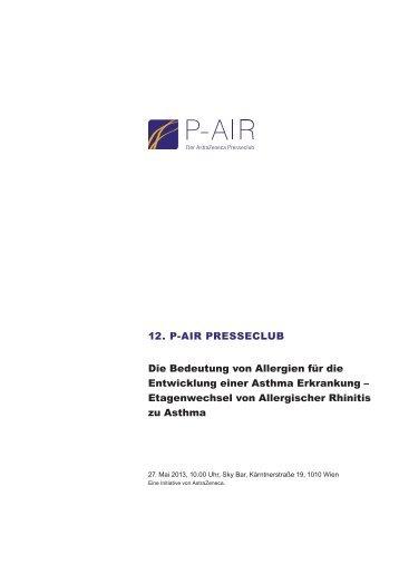 12. P-AIR PRESSECLUB Die Bedeutung von Allergien für die ...