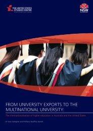 From university exports to the multinational university - United States ...