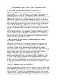 Stellungnahme Michael Faber - Kinderarmut in Bonn