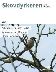 ØST Anbefalinger fra Green Product En skovrejsning - 12 år efter ...