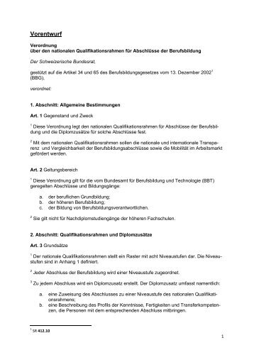 N I V E A U 1 Kenntnisse Fertigkeiten Transferkompetenzen - admin.ch