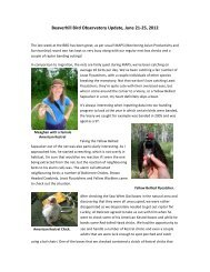 Beaverhill Bird Observatory Update, June 21-25, 2012