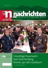 Freiwillige Feuerwehr Bad Gleichenberg feierte 140-Jahr-Jubiläum