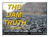 The Dam Truth - Save the Poudre