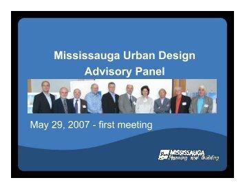 Mississauga Urban Design Advisory Panel - City of Mississauga