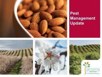 Pest Management Update - Almond Board of California