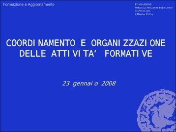 Diapositive dell'incontro
