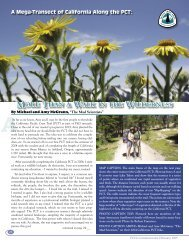 More Than a Walk in the Wilderness - Pacific Crest Trail Association