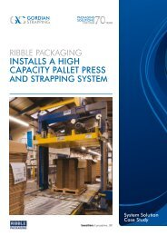 Ribble Packaging 078 Pallet Press - Gordian Strapping