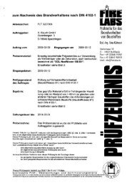 zum Nachweis des Brandverhaltens nach DIN 4102-1 - Rauch GmbH
