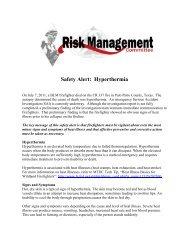 Safety Alert Hyperthermia 9/13/11 - Wildland Fire