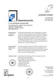 Beamtenrecht - Alpmann Schmidt
