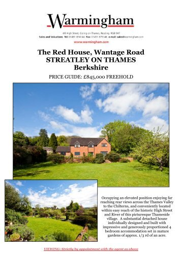 The Red House, Wantage Road STREATLEY ON ... - Warmingham