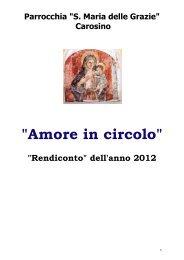 Amore in circolo 2012 - Parrocchia S.Maria delle Grazie di Carosino