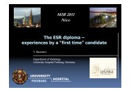 The ESR diploma - experiences by a - MIR-Online