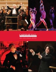 2007–2008 Carnegie Hall Annual Report