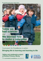 Curriculum for Excellence in the Early Years (leaflet) - Education ...