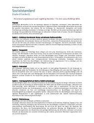 Sozialstandard (für Lieferanten) - Herzberger Bäckerei GmbH