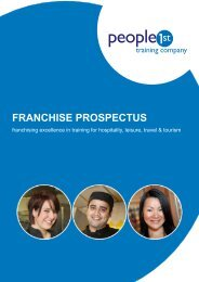 View the franchise prospectus - People 1st