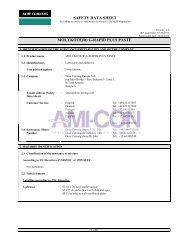 safety data sheet molykote(r) g-rapid plus paste - AMI-CON